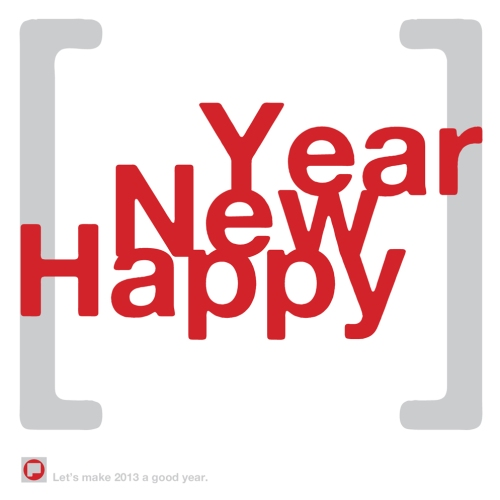 Happy New Year 2013 from pictographik